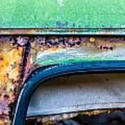 Colored Rust Metal Art Print