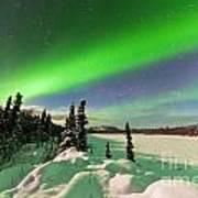 Intense Display Of Northern Lights Aurora Borealis Art Print