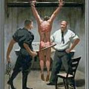 12. Jesus Is Beaten / From The Passion Of Christ - A Gay Vision Art Print