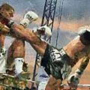 Muay Thai Arts Of Fighting Art Print