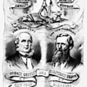 Presidential Campaign, 1872 Art Print