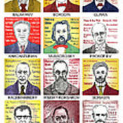 12 Russian Composers Art Print
