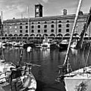 St Katherines Dock London Art Print