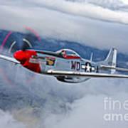 A P-51d Mustang In Flight Art Print