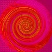 Red Energy-spiral Art Print