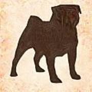 Pug The Dog Art Print