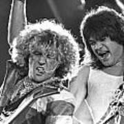 Van Halen - Sammy Hagar With Eddie Van Halen Art Print