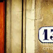 13 With Wooden Door Art Print