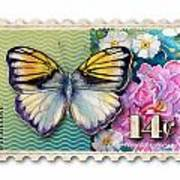 14 Cent Butterfly Stamp Art Print