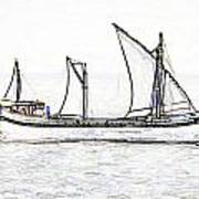 Fishing Vessel In The Arabian Sea Art Print