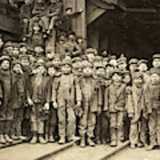 Hine Child Labor, 1911 Art Print