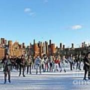 Ice Skating At Hampton Court Palace Ice Rink England Uk Art Print