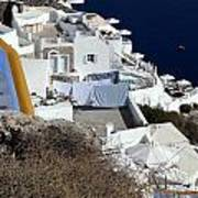 Views Of Santorini Greece Art Print