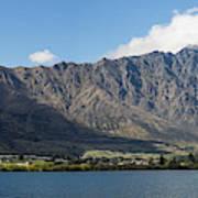Lake With Mountain Range Art Print