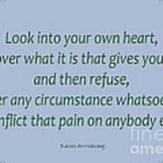 156- Karen Armstrong Art Print