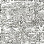 1576 Zurich Switzerland Map Art Print