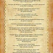 159- The Paradoxical Commandments Art Print