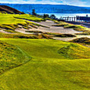 #16 At Chambers Bay Golf Course - Location Of The 2015 U.s. Open Championship Art Print by David Patterson