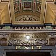 Interior Of St Georges Hall Liverpool Uk Art Print
