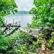 Lake Santeetlah In Great Smoky Mountains North Carolina Art Print