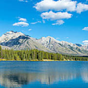 Lake With Mountains In The Background Art Print