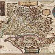 1630 Hondius Map Of Virginia And The Chesapeake Art Print by Paul Fearn