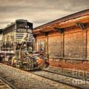 Locomotive 1637 Norfork Southern Art Print