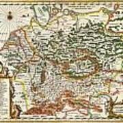 1657 Jansson Map Of Germany Germania Geographicus Germaniae Jansson 1657 Art Print