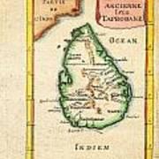 1686 Mallet Map Of Ceylon Or Sri Lanka Taprobane Geographicus Taprobane Mallet 1686 Art Print