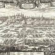 1697 Pufendorf View Of Krakow Cracow Poland Art Print