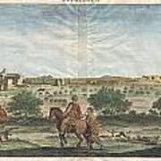 1698 De Bruijin View Of Bethlehem Palestine Israel Holy Land Art Print