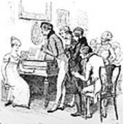 Scene From Pride And Prejudice By Jane Austen Art Print