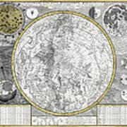1700 Celestial Planisphere Print by Daniel Hagerman