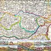 1710 De La Feuille Map Of Transylvania And Moldova Art Print