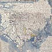 1710 First Japanese Buddhist Map Of The World Showing Europe America And Africa Art Print by Paul Fearn