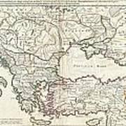 1715 De  Lisle Map Of The Eastern Roman Empire Under Constantine  Art Print