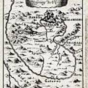 1719 Mallet Map Of The Source Of The Nile Ethiopia Abyssinia Geographicus Nil Mallet 1719 Art Print