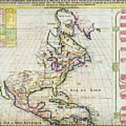 1720 Chatelain Map Of North America Geographicus Amerique Chatelain 1720 Art Print