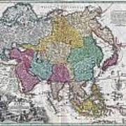 1730 C Homann Map Of Asia Geographicus Asiae Homann 1730 Art Print