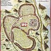 1730 Street Map Or Plan Of Jerusalem Geographicus Jerusalem Uk 1730 Art Print