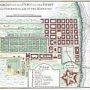 1750 Bellin Map Of Cape Town South Africa Art Print