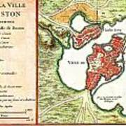 1756 Bellin Map Of Boston Massachusetts Geographicus Boston2 Bellin 1756 Art Print