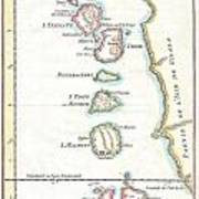 1760 Bellin Map Of The Moluques Art Print