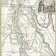 1762 Bonne Map Of Egypt  Art Print