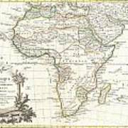 1762 Janvier Map Of Africa Art Print