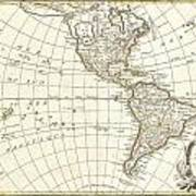 1762 Janvier Map Of North America And South America  Art Print