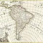 1762 Janvier Map Of South America  Art Print