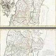 1763 De Lisle Map Of The Holy Land Art Print