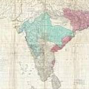 1768 Jeffreys Wall Map Of India And Ceylon Art Print