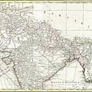 1770 Bonne Map Of Northern India Burma And Pakistan Photograph By